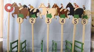 Wooden Horse Racing Game Horse racing on deck 90