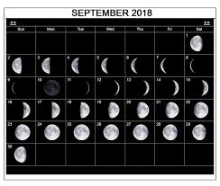 November 2018 Moon Phase Calendar Template Calendar Printable