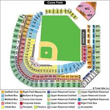 Cu Football Seating Chart Rockies Seating Chart Coors Field Seating Chart Game