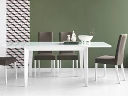 abaco solid wood extending dining table with a glass top by connubia calligaris