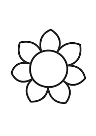 7 Best Images Of Big Flower Coloring Pages Small Flower Coloring