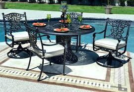 cast aluminum patio set swivel chair dining sets luxury 4 person all welded cast aluminum patio