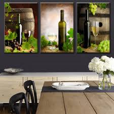 dining room canvas art. 3 Pcs/Set Modern Spray Canvas Painting Wine And Barrels Pieces For Dining Room Wall Art Picture-in \u0026 Calligraphy From Home