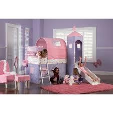 Princess Castle Bedroom Princess Princess Castle Twin Size Tent Bunk Bed With Slide By