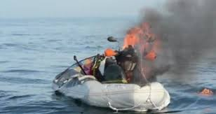Ktm 690 Amphibious Bike Bursts Into Flames During Channel Crossing