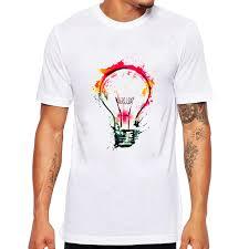 T Shirt Design Ideas 2017 New Rock Punk Men T Shirt Top Tee Splash Ideas Novelty Fashion Design Bulb Painting Hipster O Neck Boy T Shirt