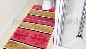 and set bath grey flower silver light dark blue patterned mats bathroom gray target yellow rug