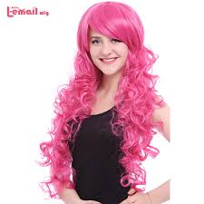 <b>L email wig Brand New</b> 80cm Pink Cosplay Wigs Little Pony Heat ...