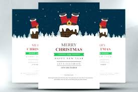 Indesign Christmas Template Flyer 5 Printed Invitation