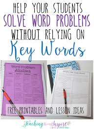 solve word problems without relying on key words