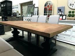 reclaimed wood trestle dining table ideas salvaged weathered concrete