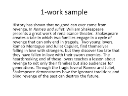 what s this essay about theme hook author title of the text  1 work sample history has shown that no good can ever come from revenge