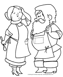 Small Picture Christmas Santa Coloring Page Mr and Mrs Santa Clause Sheet