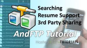 Andftp Tutorial Searching Resume Support And Third Party Sharing