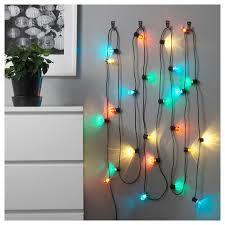 Svartra Ikea Lights Ikea Solvinden Led String Light W 24 Colored Lights Indoor Outdoor New