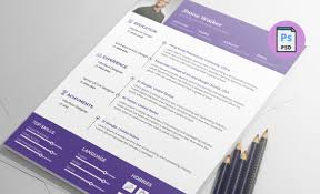 Free Resume Template Psd Clean And Simple Design Print Ready
