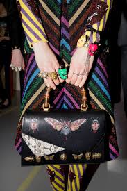 gucci bags fall 2017. backstage at the gucci fall winter 2017 fashion show bags