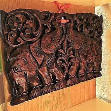wooden carved wall hangings of elephant teak wood carved wall hanging art sculpture stencil primitive white wooden carved wall hangings