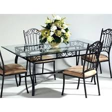 glass dining table rectangular glass top wrought iron dining table in antique taupe glass dining table
