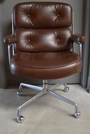 great vintage leather office chair from the time life building in new york dated feb