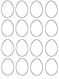 5 Free Printable Easter Egg Templates Printable Template