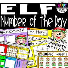 Interactive Number Flip Chart Number Of The Day Elf Interactive Promethean Board Flipchart Printables