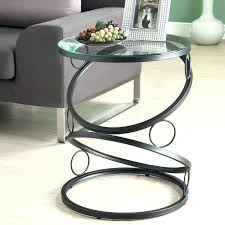 metal glass end tables modern round table black side accent home and uk