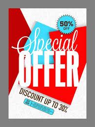 Special Offer Flyer Special Offer Sale Poster Banner Or Flyer Design Vector