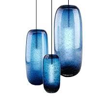 modern blown glass shade blue pendant lighting blue pendant lights blue pendant lampshade