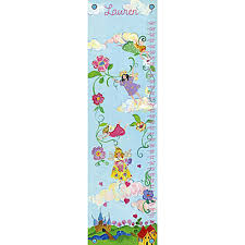 Personalized Princess Growth Chart Fairy Princess Personalized Growth Chart