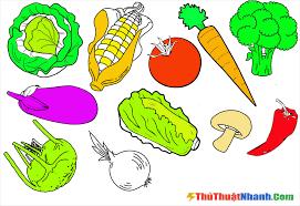Tranh tô màu rau củ quả đẹp, đa dạng các loại cho bé tập tô
