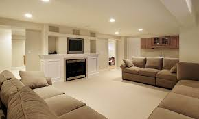 ... Fascinating Soft Brown Basement Coloring Ideas for Living Room ...