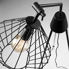 Laforma Canady Vloerlamp Industrieel Zwart Metaal