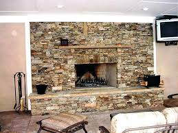 Faux Stone Fireplace Installation Fake Hearth Cleaning