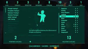 Fallout 4 Skills Chart Be Exceptional Skills And Perk Overhaul At Fallout 4 Nexus