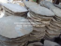 grey slate garden stepping stones round natural paving stone exterior landscaping stone pavers