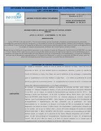 INFORME PORMENORIZADO DEL SISTEMA DE CONTROL INTERNO LEY 1474 DE 2011
