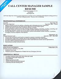 Call Center Resume Template Builder Supervisor Best Collection ...