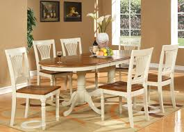 Cherry Wood Kitchen Table Sets 7pc Oval Dining Room Set Table 6 Chairs Extension Leaf