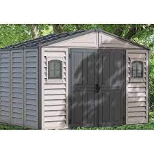 pvc garden shed duramax 8 05 m2 gray