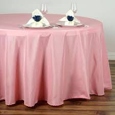 rose quartz polyester round tablecloth 120 inch white where to tablecloths