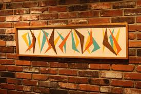 Mid Century Wall Decor Mid Century Modern Witco Abstract Wall Art Sculpture Painting