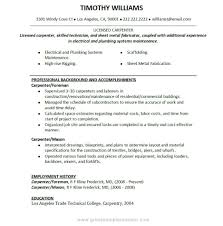 Construction Resume Template Luxury Carpenter Job Description For