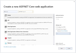 first web application in asp net core