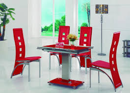 gomaz modern glass dining table with alison dining chairs