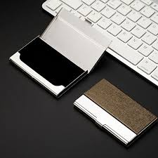 Stainless Steel Business Cards Pocket Stainless Steel Metal Business Card Holder Case Id Credit Wallet Gd