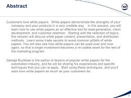 White Papers Sample White Papers Topics Techniques And Trade Secrets