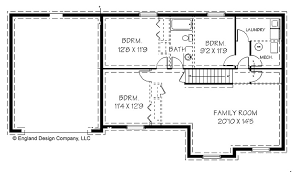 simple ranch style house plans with walkout basement view
