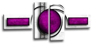 white purple grey picture split panel