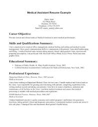 skills for a medical assistant resume resume examples for medical assistant